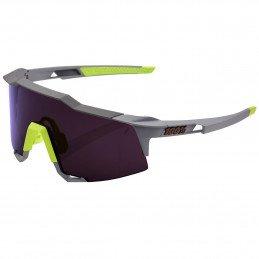 LUNETTES 100% Speedcraft Soft Tact Midnight Mauve Dark Purple lens