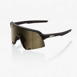 Lunettes 100% S3 Soft Tact Black Gold Lens