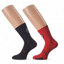 Socquettes ASSOS Tiburu Socks evo8 Noires Blanches