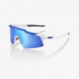 Speedcraft Short - Matte White / Blue (blanc/bleu) - Ecran HiPER miroir bleu