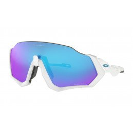 Lunettes Oakley FLIGHT JACKET Polished White Prizm Sapphire OO9401-0237