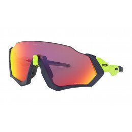 Lunettes Oakley FLIGHT JACKET Matt navy Retina Prizm Road OO9401-0537