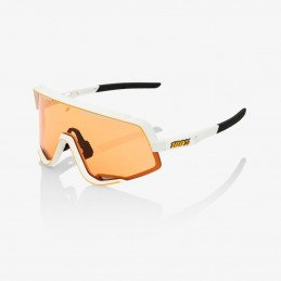Lunettes 100% Glendale - Soft Tact Off White - Persimmon Lens